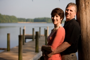 Ken and Anne by the lake