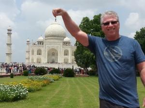 Ken Visiting the Taj Mahal.
