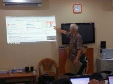 George teaching in SE Asia.