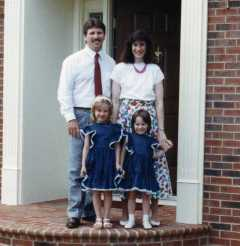 The Ken Haugh Family-August 1990.