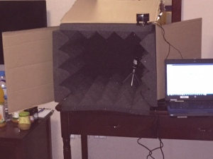 Home made sound recording booth!