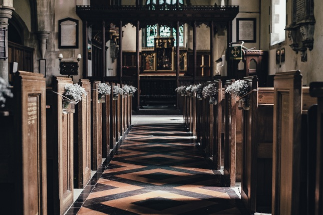 Churches: For weddings or funerals.... Credit: Annie Spratt @ unsplash